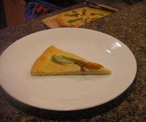 Zucchini Blossom Flatbred (Pizza)