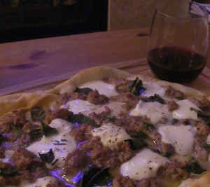 Lamb, Mozzarella, Rosemary and Basil Pizza