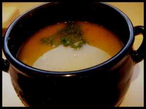 Smoked Garlic and Squash Soup